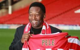 사진 유명한 축구 선수 Pelé 개
